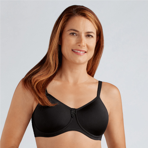 Lara by Amoena in Black, Amoena, After Surgery Bras, Wireless, Mastectomy Bras, South Granville, Diane's Lingerie, Vancouver