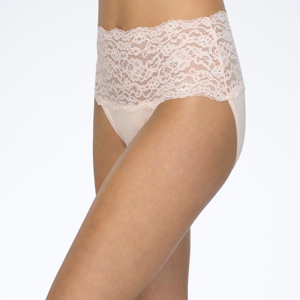 Crystal Pink - Silky Skin Hi-Rise Panty by Hanky Panky