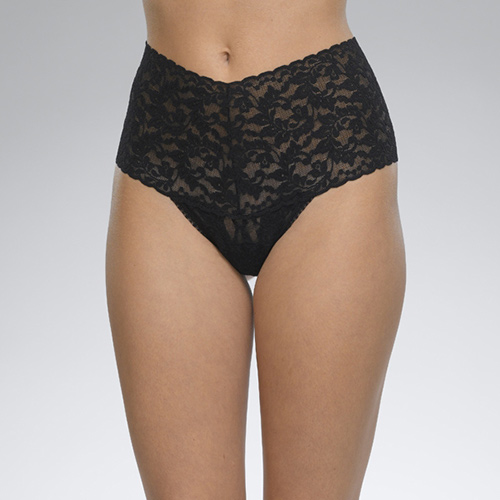 Retro Thong by Hanky Panky in Black