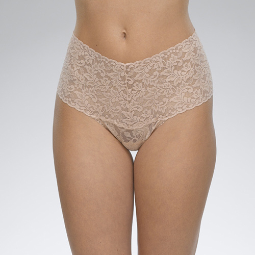 Retro Thong by Hanky Panky in Chai