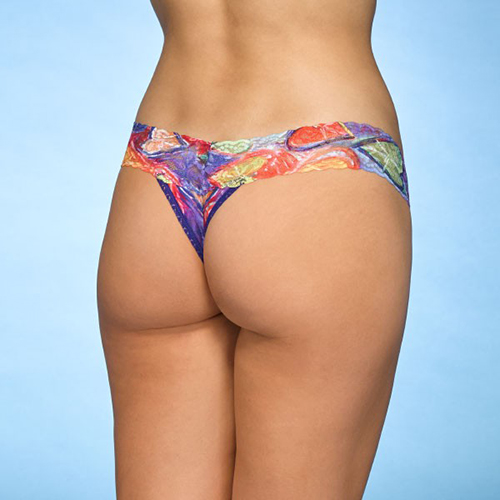 Peace Love Lowhankypanky_print_LOW_PEACELOVE_dianeslingerie_vancouver_southgranville Rise Thong by Hanky Panky