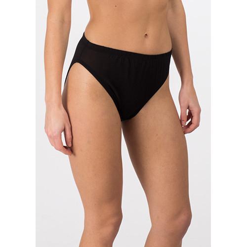 Kim Allan French Cut Silk Panty in Black