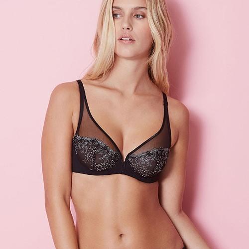 simone-perele-delice-full-cup-plunge-bra-black-319-ob-01-dianes-lingerie-vancouver-500x500