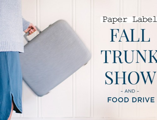 Paper Label – Vancouver Trunk Show and Food Drive at Diane's Lingerie