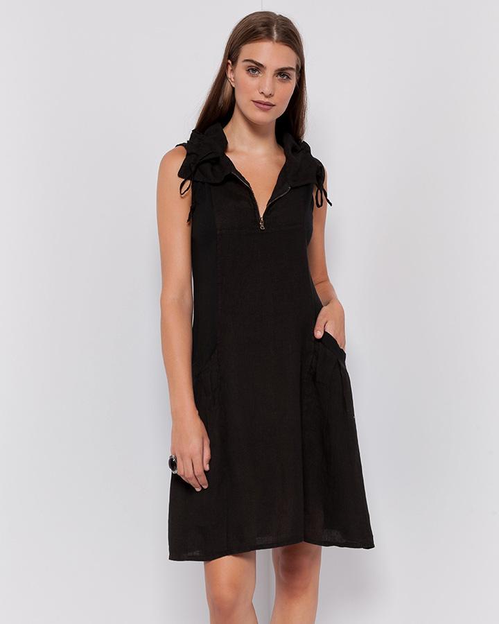 pistache-front-zip-linen-dress-blk-dianes-lingerie-vancouver-blog-720x900