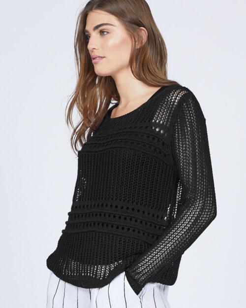 pistache-clothing-light-crochet-knit-sweater-black-dianes-lingerie-vancouver-720x900