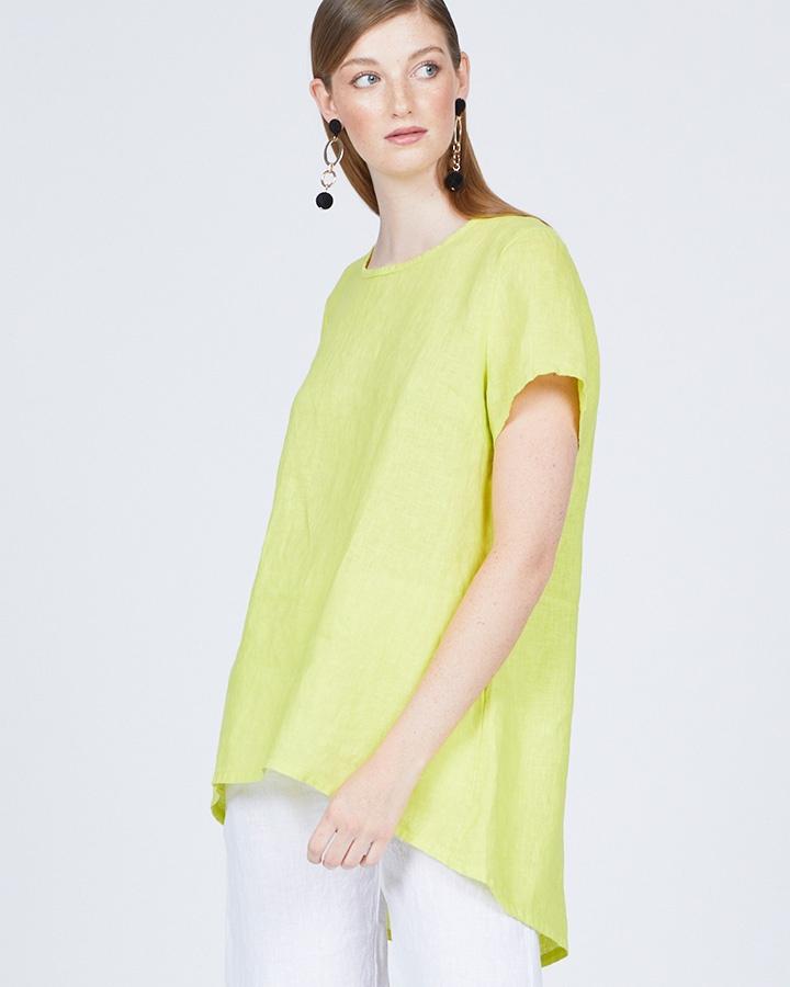pistache-clothing-slit-back-linen-tunic-limone-dianes-lingerie-vancouver-720x900