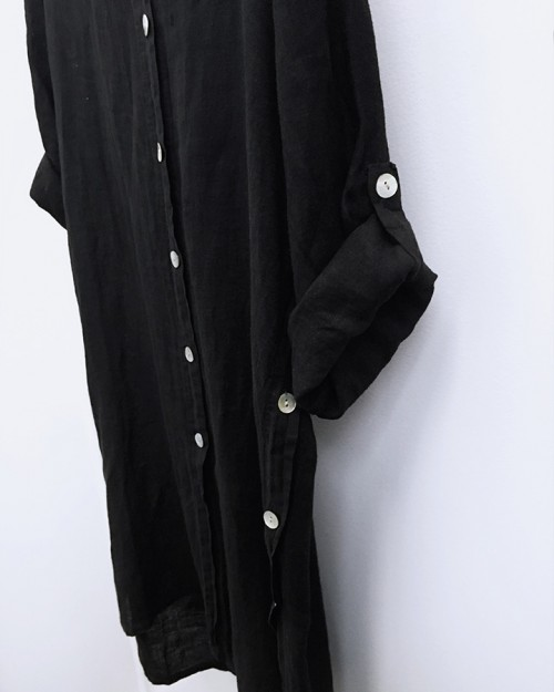 pistache-clothing-linen-button-sided-blouse-black-02-dianes-lingerie-vancouver-720x900