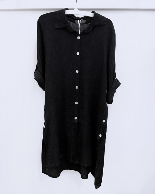 pistache-clothing-linen-button-sided-blouse-black-dianes-lingerie-vancouver-720x900