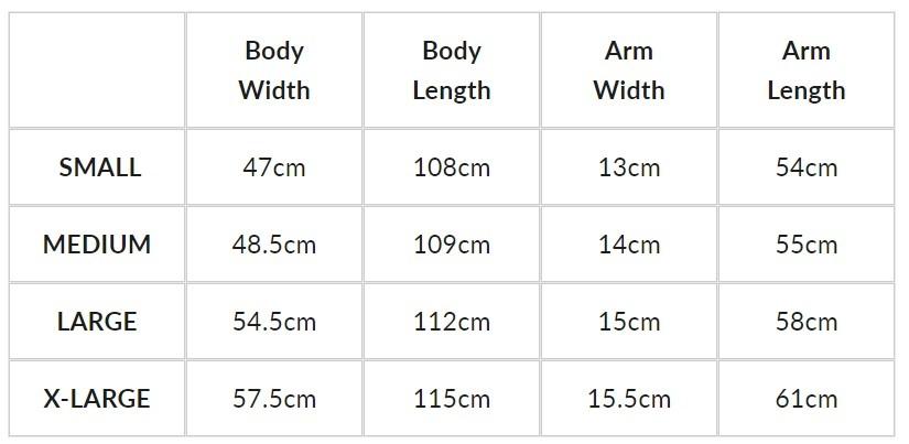 tofino-towel-size-chart